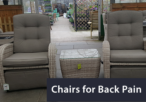 The chairs needed for back pain when sitting outside